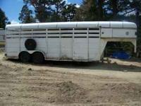 Six horse stock trailer with stud compartment. Measures