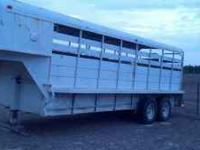 20 ft stock trailer, good floors, good tires, works