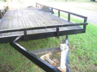 wooden deck utility trailer, full 20 ft x full 7 ft,