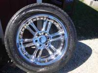 "SET OF 4 20"" GEAR CHROME RIMS WRAPPED WITH 275/55R20"