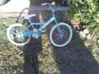 "20"" girls bike. good condition other than seat is torn."