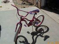 "Pink girls 20"" bike. $25.00  Location: Bushland"