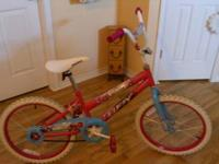 My daughter has outgrown this bike, it has been garage