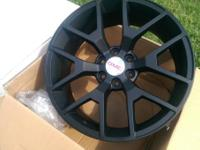 "20"" GMC Sierra Denali wheels matte black. Offering"