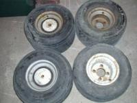GO OR GOLF CART TIRES & RIMS # 1. 18 X 8.50 X 8
