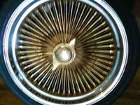 """20"""" 80 spoke 4 golds and a silver spare need tlc comes"""
