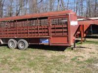 Gooseneck, 20ft, livestock trailer. New floor and jack,