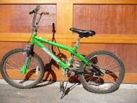 "This is a Green 20"" Bike. The bike is in great shape."