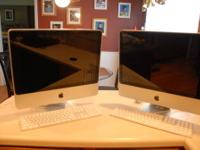 Each iMac includes a DVD/CD slot, and 3 USB ports. Each