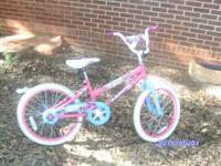 I HAVE a 20 INCH GIRLS BIKES THAT ARE PINK AND WHITE IM
