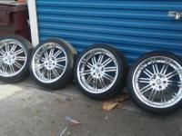 nice set of rims and tires 20 in Versante 5 lug pattern