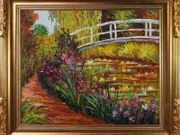 Hand-Painted oil reproduction of a famous Monet