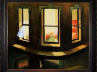20 in. x 24 in. oil painting. On Canvas Night Windows