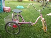I have a pink 20 inch 3 wheel bike for sale. comes with