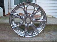 I have 4 20 inch 5 lug chrome wheels. 3 are in good