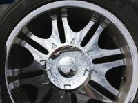 I have a set of 20 inch chrome wheels rims and tires