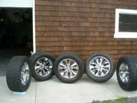 Nice 20 inch rims and tires 6 lugs 20x8.5 will come