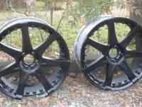 20 inch black rims with chrome accents...need tires. 5