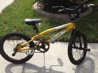 The 20-inch Boys Mongoose Hoop D BMX Bike is ideal for