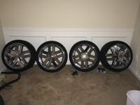 use like new chrome rims and tires for $600 bucks phone