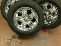 "20"" INCH CHROME RIMS WITH TIRES 6 LUG If you have any"