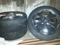 20 inch chrome 5 lug universal rims...leave phone