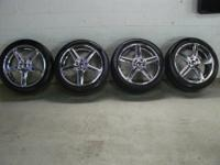 "I HAVE A SET OF 4 LIKE NEW 20"" CHROME AMERICAN RACING"