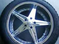 I have 4 20 inch chrome Dub rims with tires. They are