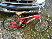 "20"" Honda Racing Prodigy BMX Bike. All parts are"