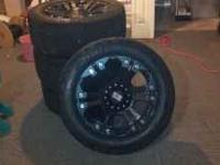 4 KMC XD Series 20 x 10 inch Rims, Dual Drilled 4.75