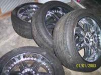 I have for sale my 20 inch Maas Chrome Rims with tires.