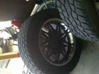 6 Lug Universal 22 Inch Milanni Rims And Tires - Rims