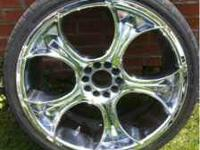 "Up for sale is a set of 4 mazati double d 20"" rims. The"