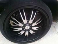 WE ARE SELLING THESE RIMS FOR $550 OBO , TRYING TO RID