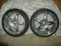 20 inch Acuza Rims. Very good condition but need to buy
