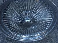 Lowrider 100 spoke wire wheels like new only had on for