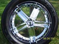 "I have 4, 20"" wheels and tires for sale. The rims have"