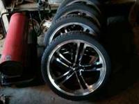 20 Inch Rims & Tires, Like New Condition. Came Off 2001