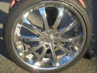 Gentally used 20 inch Zenetti Rims. Also, 3 of them