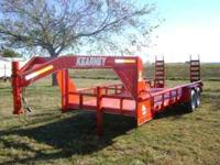 "83""X20' PIPE TOP LOWBOY GOOSENECK EQUIPMENT TRAILER"