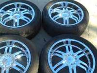 "I am selling a set of 20"" MASS M54 chrome wheels for"