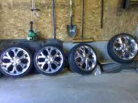 I have a set 20 inch metal fx M70 wheels for sale with