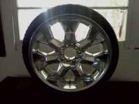 "I have a set of (4) 20"" inch chrome rims in excellent"