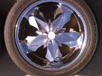 "4 - Mossa Mosaic multi-fit 20x9"" rims with mounted"