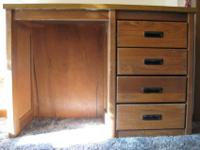 Nice, solid desk (used to be dorm furniture). 4