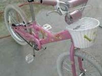 "I have a 20"" girls pink TREC bike, bike is almost"