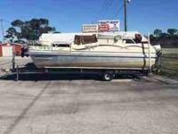 We have for sale a 20' pontoon boat with a trailer. It