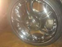 10 Bolt 20' Chrome Rims & Tires, Needs 1 Tire, but Very