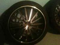 "Have 20"" rims w/tires (universal lug pattern) for sale"