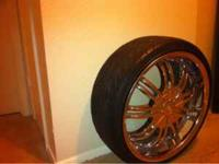 For sale a set of 4 twenty inch Fierro rims. They are